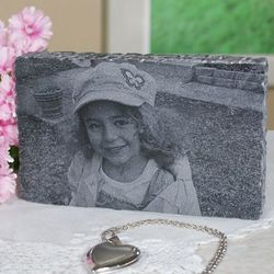 Engraved Photo Marble Paperweight