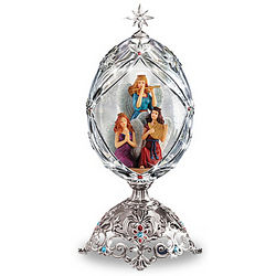 The Angels of Joy Faberge-Inspired Crystal Musical Egg