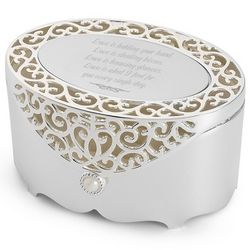 Filigree Oval Jewelry Box
