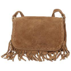 Caramel Appeal Leather Messenger Bag
