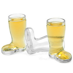 Mini German Beer Boot Shot Glass Set