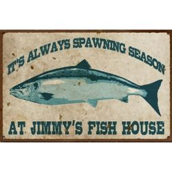 Personalized Vintage Fish House Sign