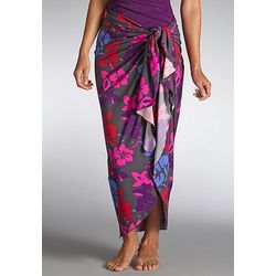 Women's Print Sun Sarong with UPF 50+