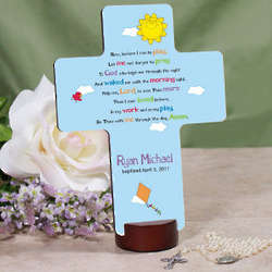 Personalized Baptism Prayer Cross