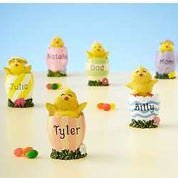 Personalized Easter Chick in Egg Figurine