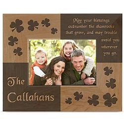 Personalized Irish Blessing Wood Picture Frame