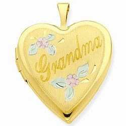 14K Yellow Gold Grandma Locket