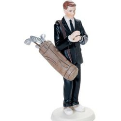 Golf Fanatic Groom Figurine