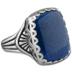 Serenity Bold Lapis Square Ring