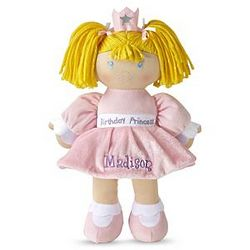 Personalized Birthday Caucasian Blonde Princess Doll