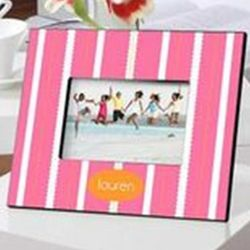 Personalized Striped Beach Blanket Frame