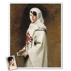 Portrait of Dona Custom Photo Caricature Print