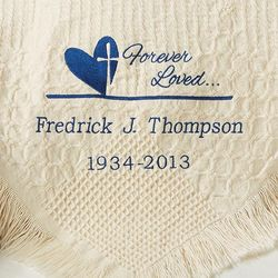 Personalized Forever in Our Hearts Memorial Afghan