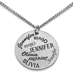 Sterling Silver Perfect Pair Two Name Pendant