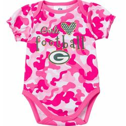 Packers Pink Camouflage Infant Bodysuit