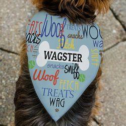 Woof Wag Treat Personalized Pet Bandana
