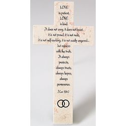 1 Corinthians Jerusalem Stone Wedding Wall Cross