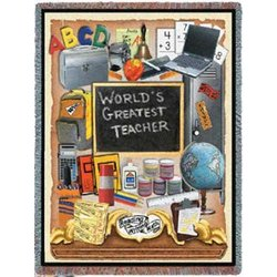 World's Greatest Teacher Tapestry Throw