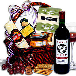 Ravenswood Red Wine Gift Basket