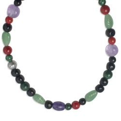 Beaded Vineyard Gemstone Necklace