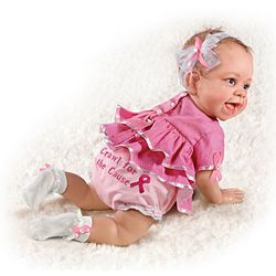 Crawl for the Cause Breast Cancer Support Lifelike Baby Doll