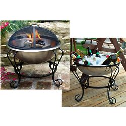 Stainless Steel Beverage Tub / Portable Fire Pit