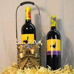 Funky Llama Merlot Wine Gift Basket