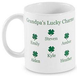 Personalized Four Leaf Clover Mug
