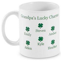 Personalized Four Leaf Clover Mug