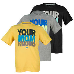 Boy's Your Mom Knows T-Shirt