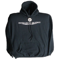 Air Force Black Hooded Sweatshirt