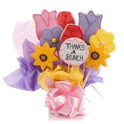 Thanks A Bunch Floral Cookie Bouquet