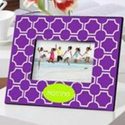 Personalized Purple Lattice Frame