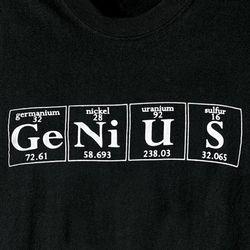 Genius Periodic Table T-Shirt