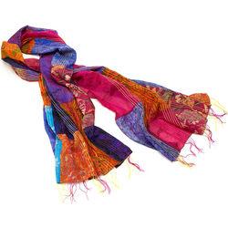 Silk Patchwork Sari Scarf