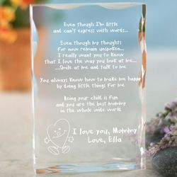 Mom's Personalized Even Though I Am Little Plaque