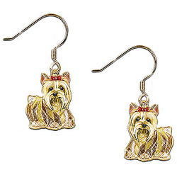 Dog Lovers' Best In Show Yorkie Crystal Earrings