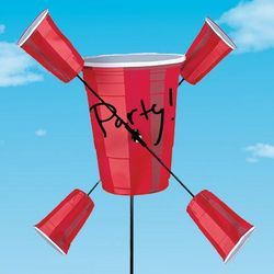 It's 5 O'Clock Somewhere Red Cup Wind Spinner