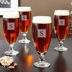 Brio Personalized Pilsner Glasses Set