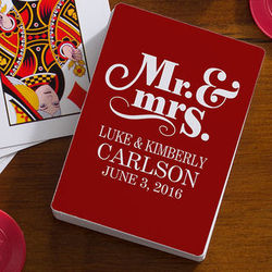 Happy Couple Personalized Playing Cards