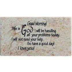 Good Morning from God Prayer on Jerusalem Stone