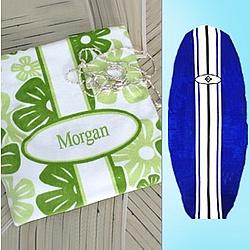 Personalized Surfboard Beach Towel