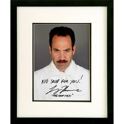 Framed Autographed Photo of The Soup Nazi