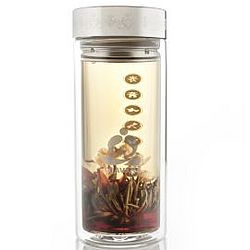 Harmony Glass Tea Tumbler with Infuser