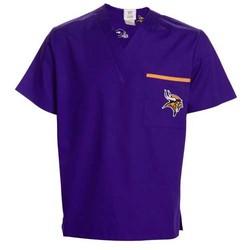 Minnesota Vikings Purple Basic Unisex Solid Scrub Top