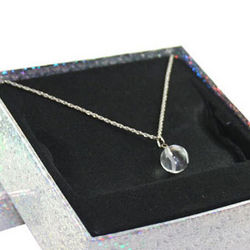 Tennis Crystal on Silver Chain
