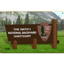 Personalized National Park Sign