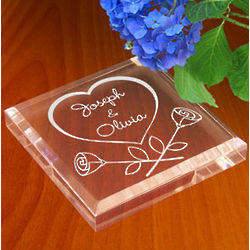 Personalized Our Love in Bloom Paperweight