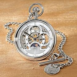 Sun-and-Moon Self-Winding Pocket Watch