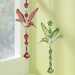 Hanging Acrylic Hummingbird Set